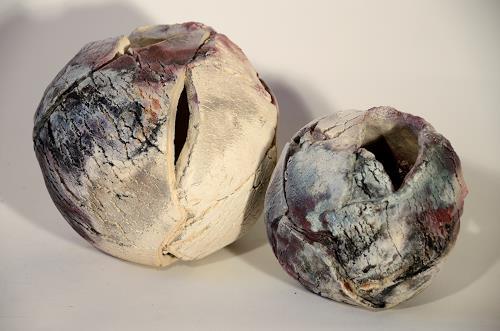Christine Claudia Weber, 2 Kugeln, Decorative Art, Emotions, Contemporary Art, Expressionism