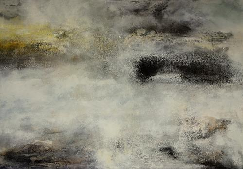 Christine Claudia Weber, Island, Abstract art, Landscapes, Contemporary Art, Abstract Expressionism