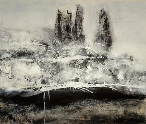 Christine Claudia Weber, Islandserie der Sturm, Abstract art, Nature, Contemporary Art, Abstract Expressionism