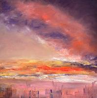 Christine-Claudia-Weber-Landscapes-Nature-Modern-Age-Abstract-Art-Action-Painting
