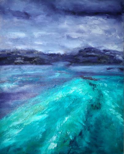 Christine Claudia Weber, Insel, Landscapes: Sea/Ocean, Contemporary Art