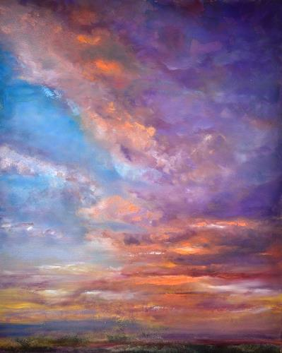 Christine Claudia Weber, Abendrot, Landscapes, Contemporary Art, Expressionism