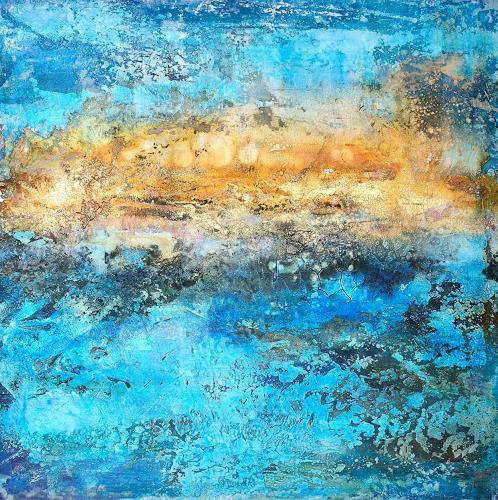 Christine Claudia Weber, Island, Landscapes, Landscapes: Sea/Ocean, Contemporary Art