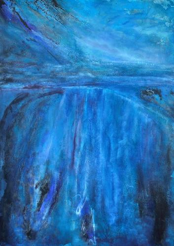Christine Claudia Weber, Island, Landscapes, Nature: Water, Contemporary Art, Expressionism