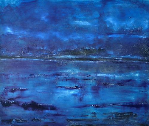 Christine Claudia Weber, Abendstimmung, Landscapes, Abstract art, Contemporary Art
