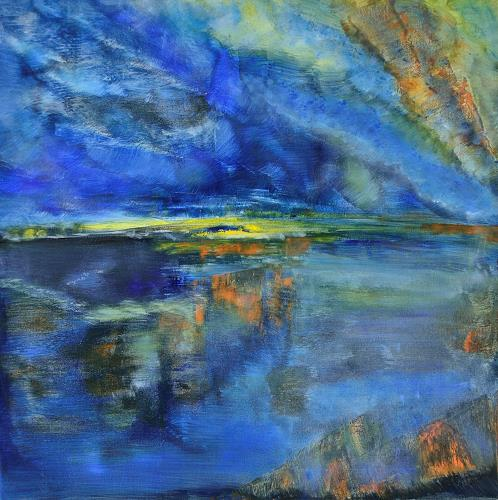 Christine Claudia Weber, Spiegelung, Landscapes, Nature: Earth, Contemporary Art, Expressionism