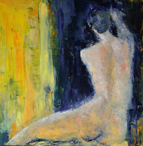 Christine Claudia Weber, Akt, People: Women, Nude/Erotic motifs, Contemporary Art, Expressionism