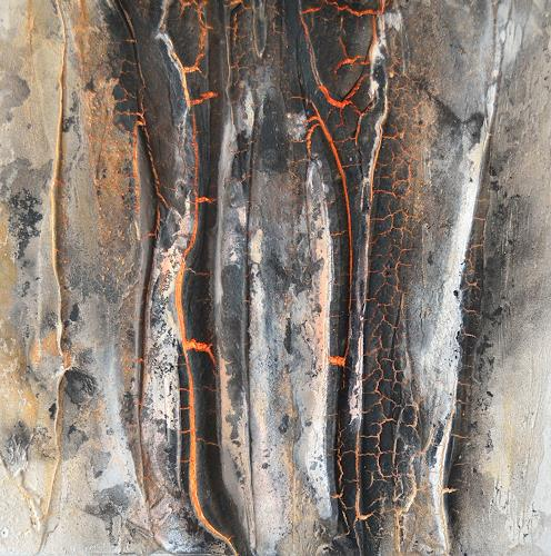 Christine Claudia Weber, Lava, Nature, Nature: Fire, Abstract Expressionism, Expressionism