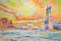 deniskujundzicart-Architecture-Landscapes-Modern-Age-Impressionism-Neo-Impressionism