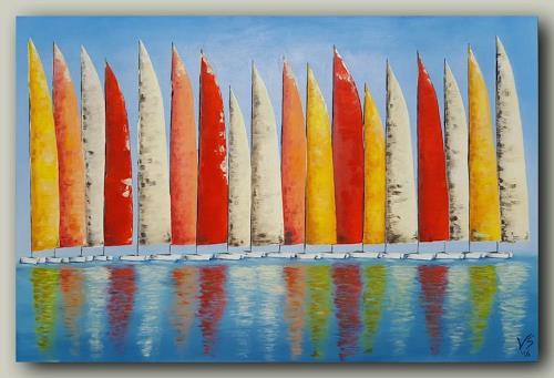 Volker Senzel, Sails, Nature: Water, Sports, Contemporary Art