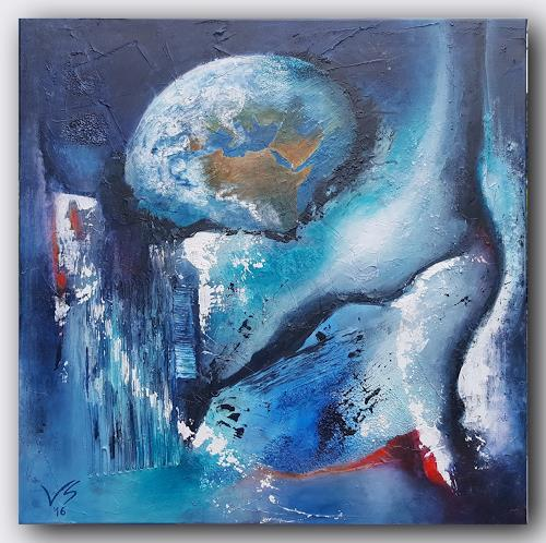 Volker Senzel, Welt im Chaos, Miscellaneous Landscapes, Abstract art, Contemporary Art