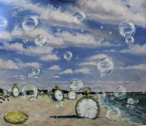 Joachim JORI Niggemeyer, Es Trenc . Es ist an der Zeit, Symbol, Symbolism, Abstract Expressionism