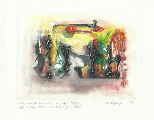 Joachim JORI Niggemeyer, Titel: Noch glaubte Gott... Still believed God..., Symbol, Symbolism