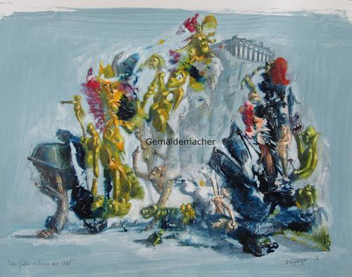 Joachim JORI Niggemeyer, Die Götter verlassen die Welt, Symbol, Symbolism