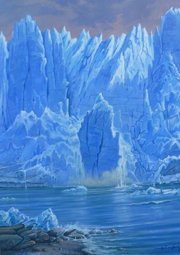 Wilhelm Laufer, Der Gletscher Perito Moreno in Patagonien, Nature: Water, Expressionism