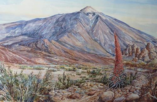 Wilhelm Laufer, Pico del Teide, Nature: Rock, Nature: Miscellaneous, Naturalism