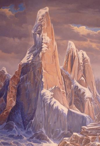 Wilhelm Laufer, Cerro Torres, Landscapes, Contemporary Art, Expressionism