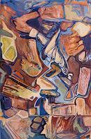 Wilhelm-Laufer-Fantasy-Abstract-art-Modern-Age-Abstract-Art-Non-Objectivism--Informel-