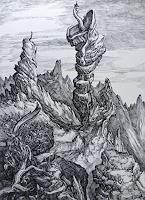 Wilhelm-Laufer-Fantasy-Landscapes-Mountains-Contemporary-Art-Post-Surrealism
