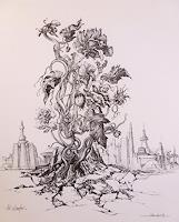Wilhelm-Laufer-Plants-Flowers-Still-life-Modern-Age-Modern-Age