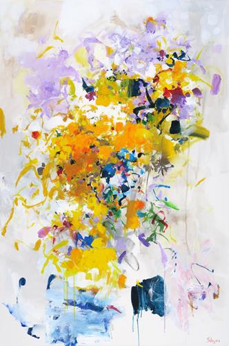 Thomas Steyer, Snow in Spring, Abstract art, Emotions, Abstract Expressionism