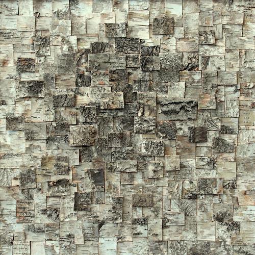 Friedhelm Raffel, Rindenmosaik I   Murus Cortex Betulae, Abstract art, Impressionism, Abstract Expressionism