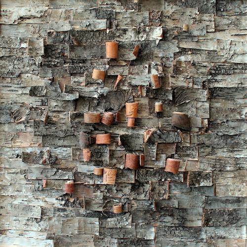 Friedhelm Raffel, Rindenmosaik II    Cortex Betulae, Abstract art, Impressionism, Expressionism