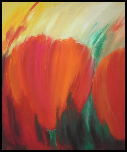 Friedhelm Raffel, Blüten und Licht, Plants: Flowers, Impressionism