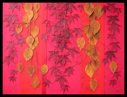 Friedhelm Raffel, Blattfall, Plants, Abstract Art