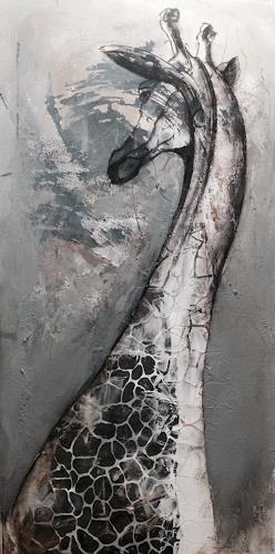 Anita Hörskens, Giraffe, Animals, Hunting, Contemporary Art, Abstract Expressionism