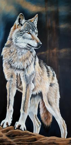 Mona Rothenpieler, Wachsam, Nature, Animals, Photo-Realism, Expressionism