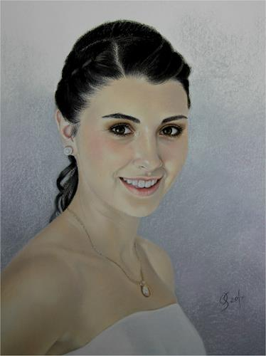 Olga Sarabarina, Portrait in Pastell, People: Portraits, People: Women, Realism, Expressionism