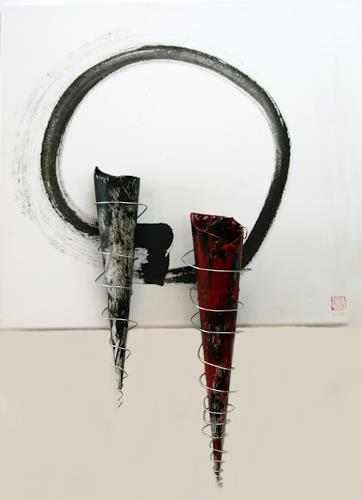 Astrid Hörr-Mann, Auftakt II, Symbol, Contemporary Art, Abstract Expressionism