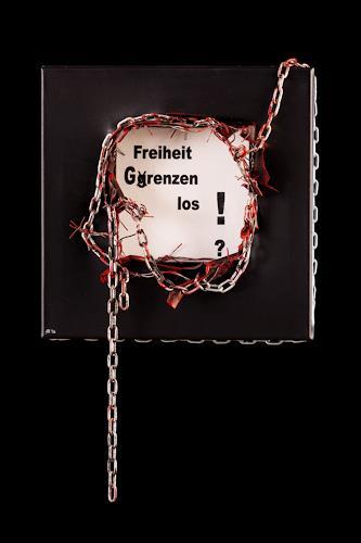 Astrid Hörr-Mann, Freiheit grenzenlos?, Society, Contemporary Art