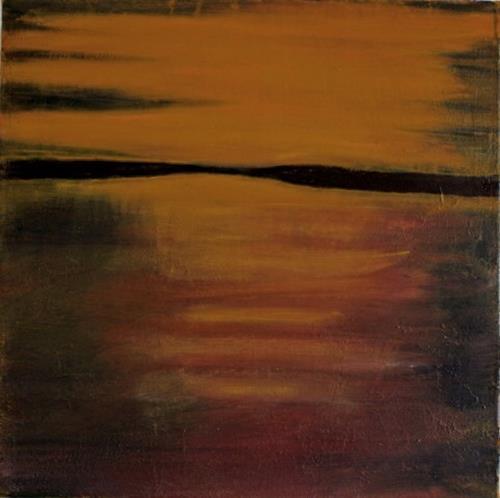 Ingeborg Müller, Golden, Miscellaneous Landscapes, Nature: Water, Modern Age