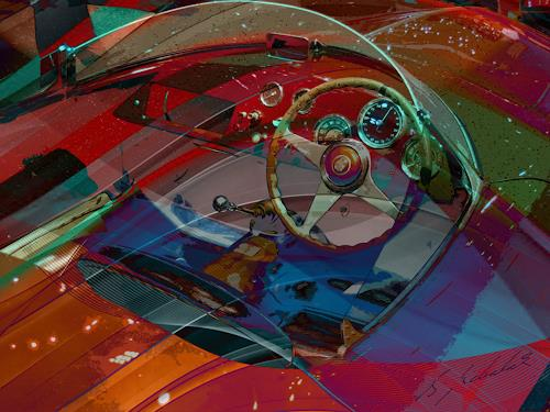 Bernd Michalak, Alfa Romeo in Genf, Technology, Contemporary Art, Expressionism