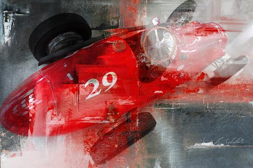 Bernd Michalak, Maserati in the Pit, Technology, Contemporary Art, Abstract Expressionism
