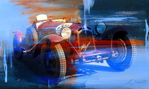 Bernd Michalak, Alfa Romeo am Klausen Pass, Technology, Contemporary Art