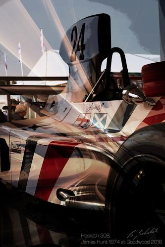 Bernd Michalak, Hesketh Formula one at Goodwood, Technology, Contemporary Art, Abstract Expressionism