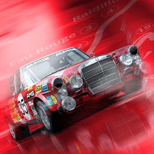 Bernd Michalak, AMG at Eau Rouge, Sports, Contemporary Art, Abstract Expressionism