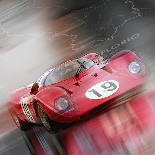 Bernd Michalak, Ferrari 312P at Targa Florio, Sports, Contemporary Art