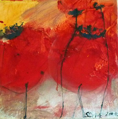 scherk, Amapola zwei, Plants: Flowers, Expressionism