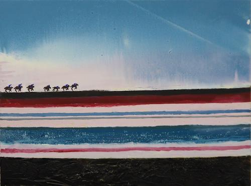 Gerhard Knolmayer, Die blaue Kavallerie, People, Society, Expressive Realism