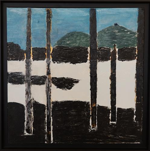 Gerhard Knolmayer, Anselm Kiefer an der Donau, Miscellaneous Landscapes, Symbol, Neo-Expressionism