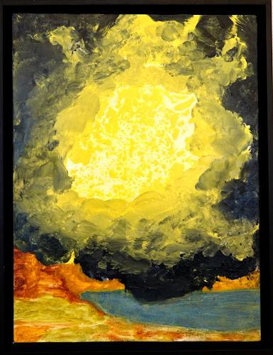 Gerhard Knolmayer, Kurz vor einer Vision Ezechiels, Mythology, Religion, Renaissance, Abstract Expressionism
