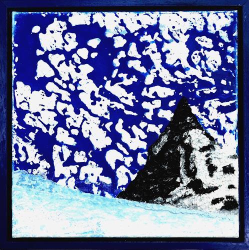 Gerhard Knolmayer, Expressive Himmelserscheinung über dem Matterhorn, Landscapes: Mountains, Landscapes: Winter, Neo-Expressionism, Abstract Expressionism
