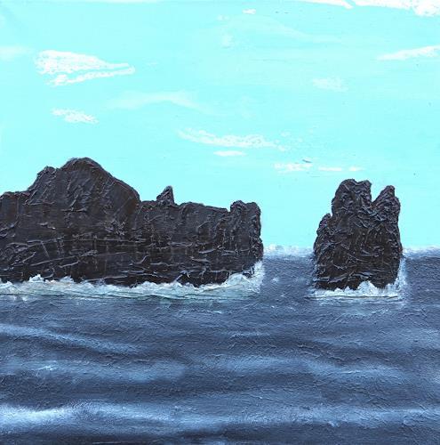 Gerhard Knolmayer, Devil's Crown: Wo sich Riffhaie 'Gute Nacht' sagen, Landscapes: Sea/Ocean, Landscapes: Tropics, Expressive Realism, Abstract Expressionism