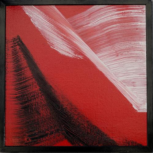 Gerhard Knolmayer, Großer weißer Vogel, Animals: Air, Landscapes: Mountains, Abstract Expressionism