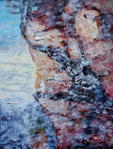 Gerhard Knolmayer, Kaiser Maximilian I schwindelt, Landscapes: Mountains, History, Expressive Realism, Abstract Expressionism