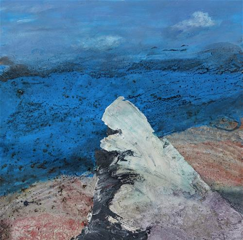 Gerhard Knolmayer, Caspar David Friedrich überlegt noch, Landscapes, Landscapes: Sea/Ocean, Romanticism